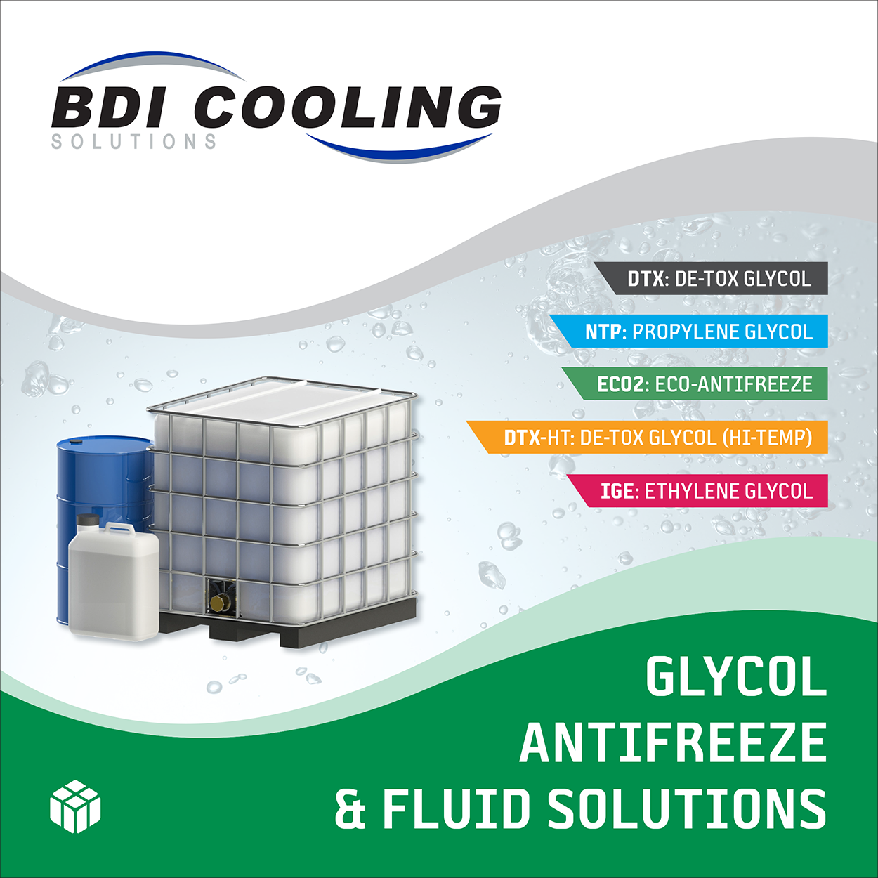Glycol Antifreeze Fluid Solutions